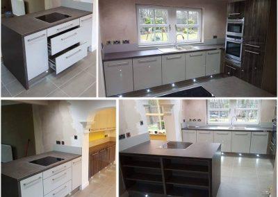 acrylic 2 tone kitchen