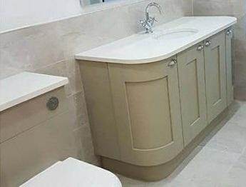 traditional bathroom unit