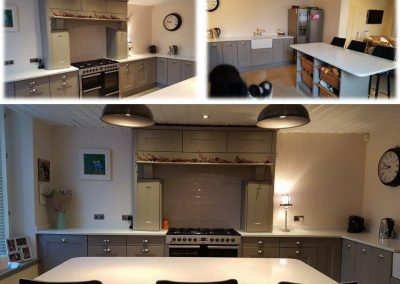 kitchen with mantle